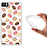 WoowCase - Funda Gel Flexible { bq Aquaris M4.5 } Donuts Carcasa Case Silicona TPU Suave