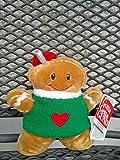 Santa's Village Gingersnaps Sound Toy Plüsch - Lebkuchenmann mit Sound Melodie Jingle Bells - 15 cm -