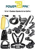 #8: PowerPak 12-in-1 Outdoor Sports Essentials Kit for Action Camera GoPro Silver Black Hero 6 5 4 3+ 3 2 1, SJCAM SJ4000 SJ5000 SJ6