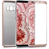 kwmobile Hülle für Samsung Galaxy S8 - Full Body Case Handy Schutzhülle TPU Silikon - Back Cover Metallic Rosegold