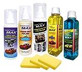 #8: MAX Complete Car Care Kit (incluides Dashboard & Tyre Shiner 200 ML + Liquid Wax Polish 200 ML + Vinyl and Leather Polish 200 ML + Windshield Washer 200 ML + Car Shampoo Cum Polish 200 ML + Foam 3 Pcs.)
