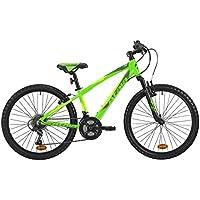 """Mountain bike da ragazzo Atala RACE COMP 24"""", colore verde neon - antracite, indicata fino ad un'altezza di 140cm"""