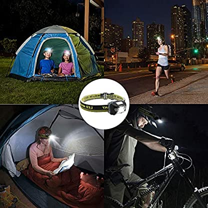 Blinkle Head Torch Ultra Bright Headlamps CREE LED 4 Modes Headlamp with Red Headlight Waterproof AAA Battery Powered for Running Camping Reading DIY 7
