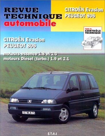 Revue Technique n° 576.3 Citroen évasion, Peugeot 806