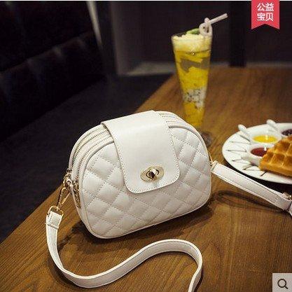 Pacchetti CengBao di Corea Mini Bundle, piccolo-wind Messenger Nuovo elegante versione retrò Corea Ladies borse, m bianco si precipitò kit scheda M bianco aggiunta kit scheda