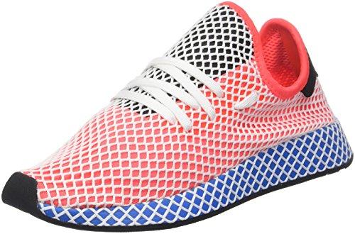 adidas Deerupt Runner, Chaussures de Gymnastique Homme, Rouge (Solar Red/Solar Red/Bluebird), 43 1/3 EU