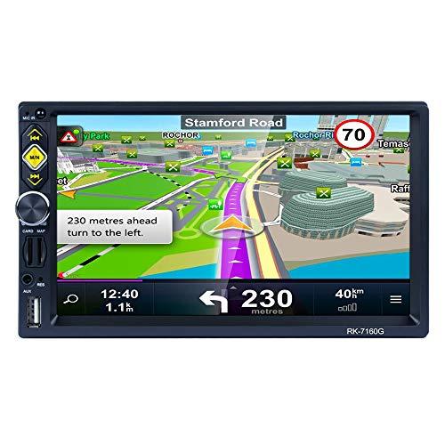 TOOGOO 2Din 7 Zoll Auto Fm Radio Hd 1080P Navigation Ios/Android Spiegel Link Stereo Bluetooth Lautsprecher Mp5 Spieler