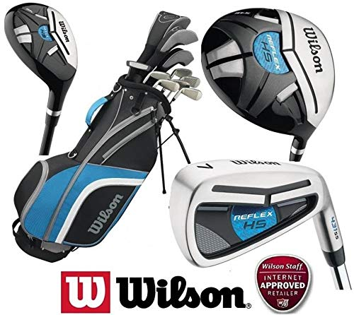 f3ae66f1eea0d Wilson Mens Reflex Golf Set NEW FOR 2018 Steel Shafted Irons   Graphite  Shafted Woods FREE