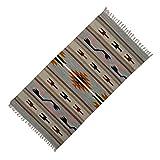 Multicolour Indian Rug Jute Baumwolle Rags Streifen-Muster-Kind-Spiel Werfen Bodenmatte 54 x 27 Zoll