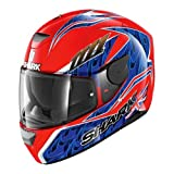 Shark Casque Moto D-SKWAL FOGARTY RBB, Rouge/Bleu, Taille M