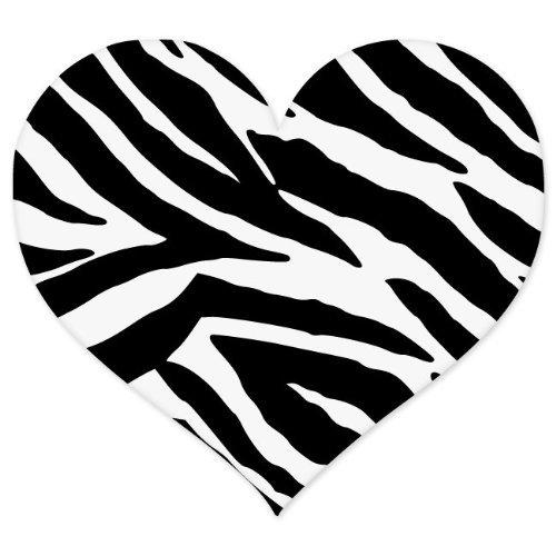 INDIGOS UG Aufkleber Autoaufkleber JDM Die Hart - Zebra Animal Print Heart - Auto Laptop Tuning Sticker Heckscheibe LKW 101mmx101mm (Aufkleber Zebra-auto)