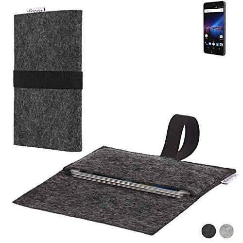 flat.design Handy Hülle Aveiro für Phicomm Passion 4 passgenaue Filz Tasche Case Sleeve Made in Germany