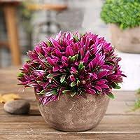 Ysber, pianta artificiale, finto bouquet, pianta in vaso, decorazione per soggiorno, camera da letto, sala da pranzo, caffetteria, ufficio, cassettiera Red