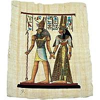 Papiro Egipcio Original Pintado a Mano de 33x43 cm Aproximadamente, Ref. 53V/P2.