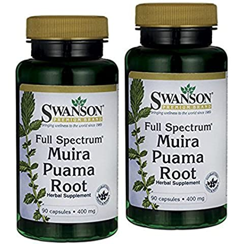 Pack of 2, Full-spectrum Muira Puama Root 400 Mg 90