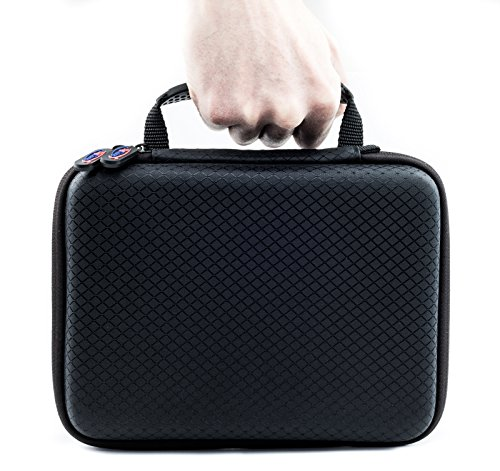 Digicharge Carry Travel Case For Gopro Akaso Crosstour Campark Fitfort Garmin VIRB Apeman Sony Xiaomi Yi Camkong Motorola Victure Kitvision Nikon Action Camera Small (22x17x6cm) Accessory Kit Cam Bag