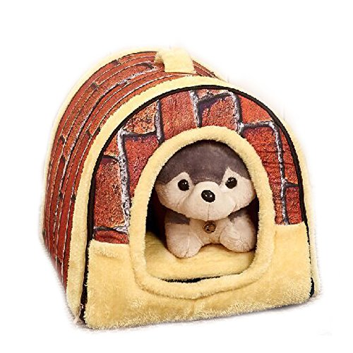 Sunny Rain Pet House Dog Cat Portable House Puppy Hundehütte Multifunktions Bett und Haus Warm Kissen