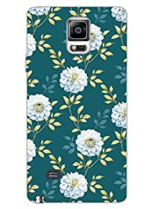 Samsung Note 4 Cases & Covers - Getting Floral - Green Painting - So Girly - Designer Printed Hard Shell Case