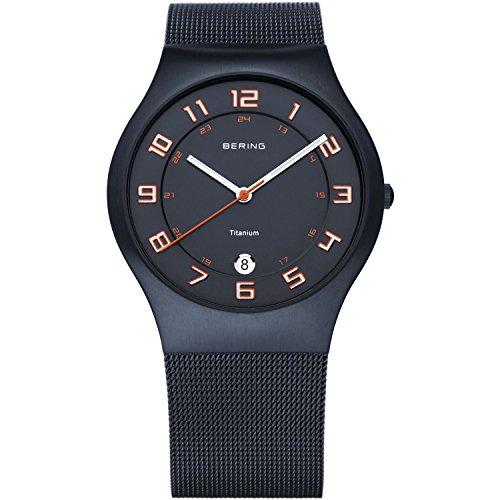 Bering Montre bracelet Mixte Classic à quartz analogique en acier inoxydable 11937–393