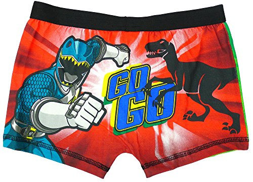 Image of Boys Power Rangers Dino Charge Underpants Trunk Fit Boxer Shorts sizes from 4 to 8 Years