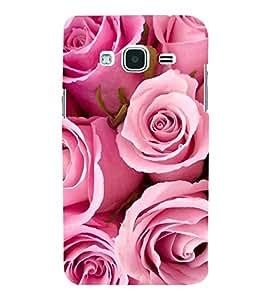Fiobs Designer Back Case Cover for Samsung Galaxy J1 (6) 2016 :: Samsung Galaxy J1 2016 Duos :: Samsung Galaxy J1 2016 J120F :: Samsung Galaxy Express 3 J120A :: Samsung Galaxy J1 2016 J120H J120M J120M J120T (Rose Flowers Floral Ful Red Gulaab Aroma Smell)