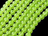 Beads Ok, DIY, Blanco Jade en Verde Manzana Color, Teñido, 10mm, Abalorio, Cuenta, Mostacilla o Chaquira De Piedra Semipreciosa, Bola~38cm un Tira. (White Jade in Apple Green Color, Round Bead)