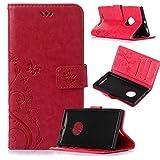 Beiuns Funda de PU piel para Nokia Lumia 830 Carcasa - R155 rojo pasión