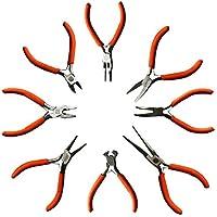 Kurtzy Set 8 Piezas Alicates Cortacables, Alicate Punta Plana y Alicate Punta Redonda y Más - Kit Herramientas Resistentes para Electricistas y Carpintería, Bricolaje y Hacer Joyas - Ergonómicos