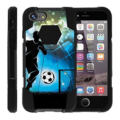 turtlearmor | Kompatibel für Apple iPhone 6Hülle | iPhone 6S Schutzhülle [dynamisch Shell] Dual Hybrid Hard Absorber Impact Silikon Cover Ständer Sport und Spiel Design -, Soccer Player Graphic (4 Mobile-handys Virgin Iphone)