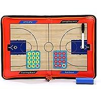 HUYUHAN Tactics - Tabla de entrenar con cierre de cremallera, tabla de satén con marcador y bolígrafo borrable para baloncesto, voleibol, fútbol y fútbol, Basketball