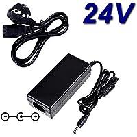 Top cargador® Adaptador alimentación cargador 24V para impresora etiquetas Dymo LabelWriter 450Turbo
