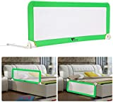 Amzdeal Baby Bed Guard Portable and Foldable Bed Rails for Toddlers 150 * 50 cm * 40 cm Green