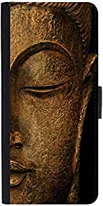 Snoogg Buddha Actual Designer Protective Phone Flip Case Cover For Vivo V1
