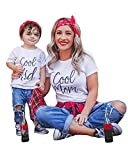 Minetom Mutter und Tochter Kleidung Sommer Family Partnerlook Tank Tops T-Shirt Bluse Baby Kleidung Baby Outfit Babykleidung Mutter Kinder Kleider Mama DE 36