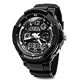 Wasserdichte Armbanduhr, Kinderuhr Digital Analog, Kinderarmbanduhren für Jungen/...