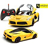 Zest 4 Toyz Remote Controlled Ferrari like Model Sports Car with Openable Doors (Yellow, openable door car yel)