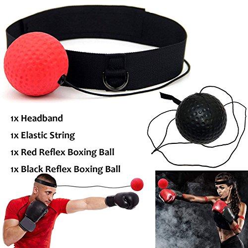 Ball Boxing MMA Kampftraining Reflex Speed Elastic String mit Stirnband Gym Equipment Super für beide Training und Fitness Combat Sport Geschenk Geeignet für Erwachsene oder Kinder (Boxing Equipment Kinder)