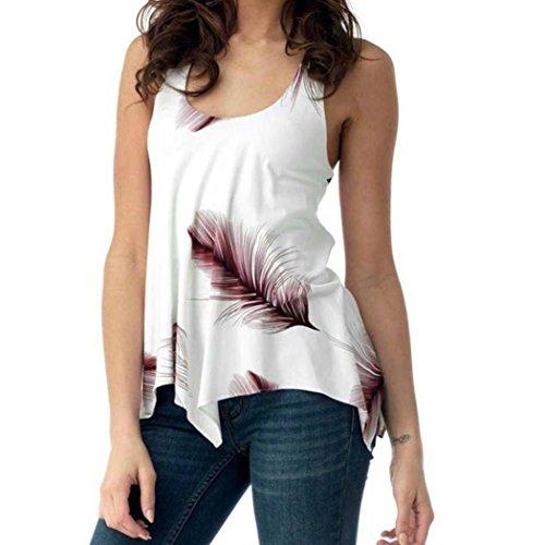 Plus Size Weste Shirt Print Tops Frauen Damen ärmellose Bluse Verband Tank Pullover GreatestPAK,Weinrot,XXL