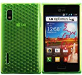 Luxburg Diamond Design custodia Cover per LG Optimus L5 E610 colore verde smeraldo, custodia in silicone TPU