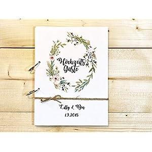 Hochzeitsalbum aus Holz mit Namen u. Datum