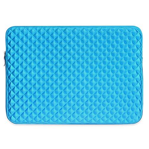 Miya System Ltd Notebook Hülle, Laptophülle 13.3 Zoll stoßfest Notebooktasche Laptop Schutzhülle Notebook Sleeve Hülle PC Laptop Schutztasche mit Diamantgitter.-Blau