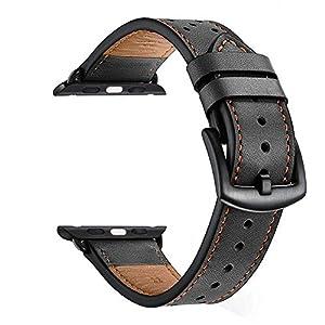 Zeiger Herren Leder Faltschließe Uhrenarmband für iWatch 4