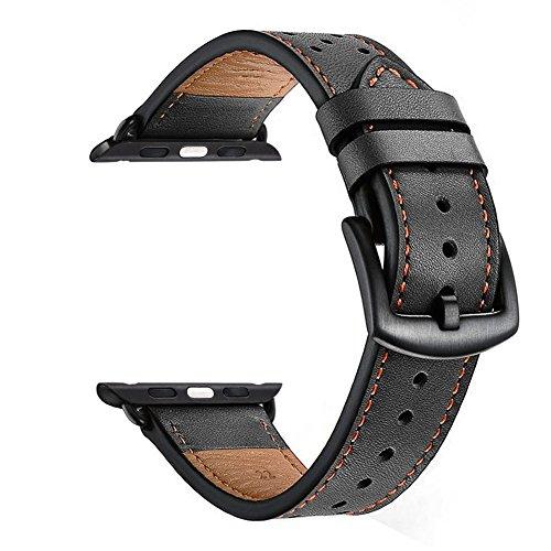 Correa de cuero Zeiger reloj correa de cuero negro / marrón para el reloj de los hombres Hebilla de reemplazo impermeable hebilla 22mm
