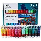 Mont Marte Premium Acrylfarben Set - 24 Stück, 36ml Tuben - Ideal für Acrylmalerei - Brillante Lichtechte Farben mit großer Deckkraft - Perfekt geeignet für Anfänger, Profis und Künstler