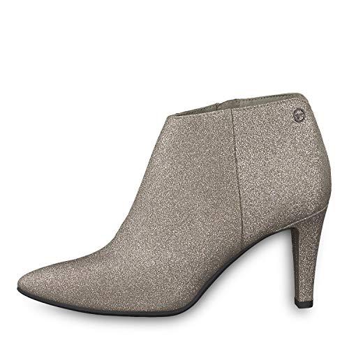 Tamaris 1-25326-31 Damen Stiefelette Ankle Boots Glitzer, Schuhgröße:39, Farbe:Silber