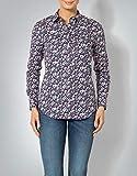 GANT Damen Bluse Baumwollmix Blusenshirt Floral, Größe: 38, Farbe: Blau