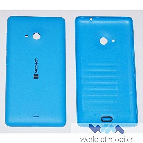 Original Microsoft Akkudeckel cyan / blau für Lumia 535 (Akkufachdeckel, Batterieabdeckung, Rückseite, Back-Cover) - 8003485