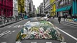 GREEN PARK - SOLDES D'HIVER - Parure de lit pour 2 personnes : Housse de couette 240x220 cm + Taies d'oreiller 65x65 cm