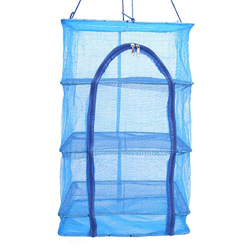Explopur Falten 3 Schichten Trocknen Net Mesh Hanging Rack Gemüse Fischgerichte Trockner Net Storage Organizer