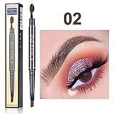 LCLrute Augenbrauenstift Doppelkopfbürste Augenbraue dauerhaft wasserdicht nicht blühend leicht zu färben (B)